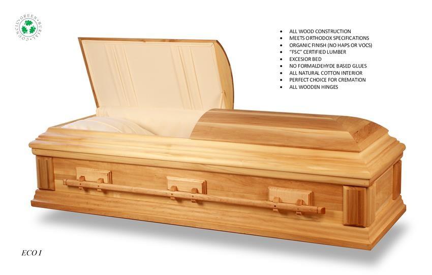 eco i green casket - new england casket company